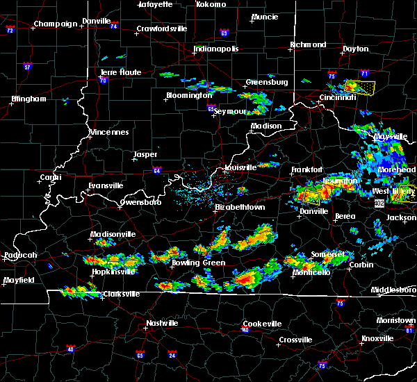 Radar Image for Severe Thunderstorms near Nicholasville, KY at 6/29/2015 5:25 PM EDT