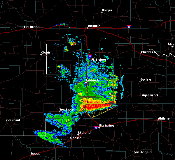 Radar Image for Severe Thunderstorms near Gail, TX at 6/17/2020 9:30 PM CDT