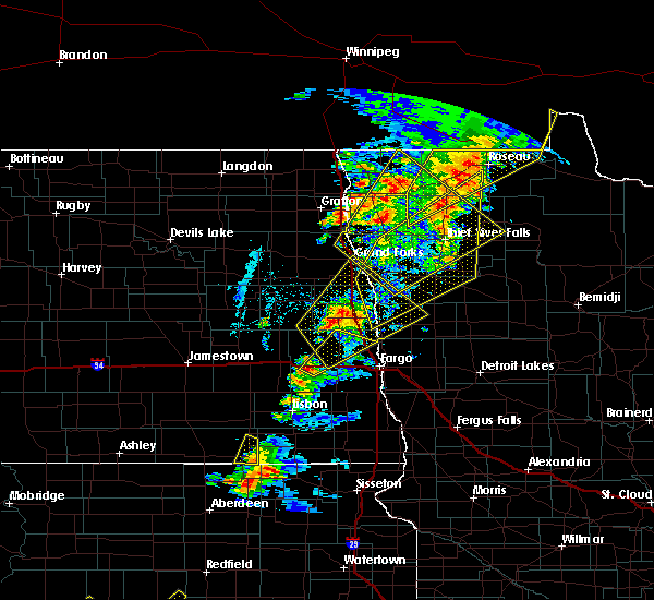 Radar Image for Severe Thunderstorms near Arthur, ND at 6/17/2020 9:39 PM CDT