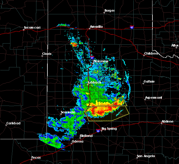 Radar Image for Severe Thunderstorms near Gail, TX at 6/17/2020 9:49 PM CDT