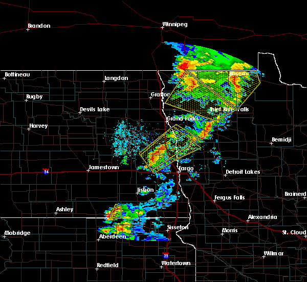 Radar Image for Severe Thunderstorms near Roseau, MN at 6/17/2020 10:22 PM CDT