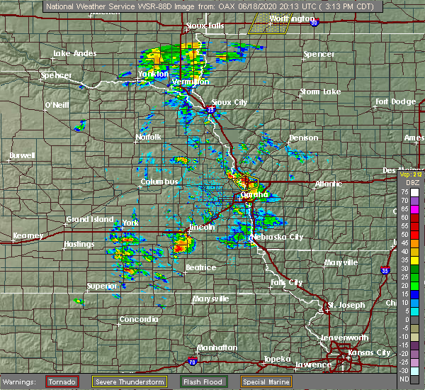 Radar Image for Severe Thunderstorms near Missouri Valley, IA at 6/18/2020 3:19 PM CDT