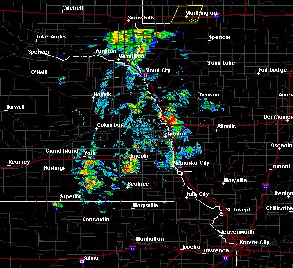 Radar Image for Severe Thunderstorms near Lincoln, NE at 6/18/2020 3:38 PM CDT