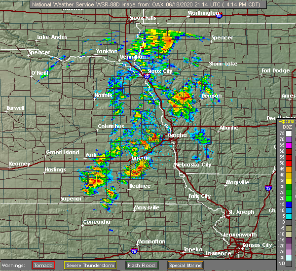 Radar Image for Severe Thunderstorms near Woodland Hills, NE at 6/18/2020 4:20 PM CDT