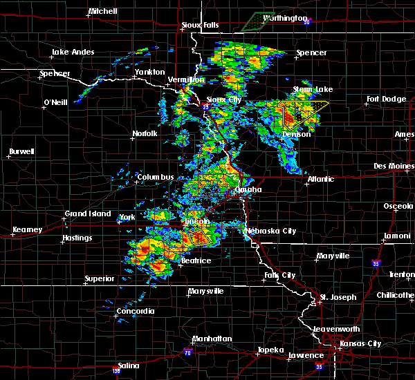 Radar Image for Severe Thunderstorms near Woodland Hills, NE at 6/18/2020 5:01 PM CDT