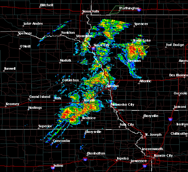 Radar Image for Severe Thunderstorms near Woodland Hills, NE at 6/18/2020 5:14 PM CDT