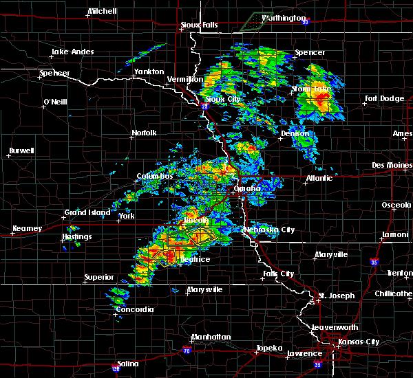 Radar Image for Severe Thunderstorms near De Witt, NE at 6/18/2020 5:46 PM CDT