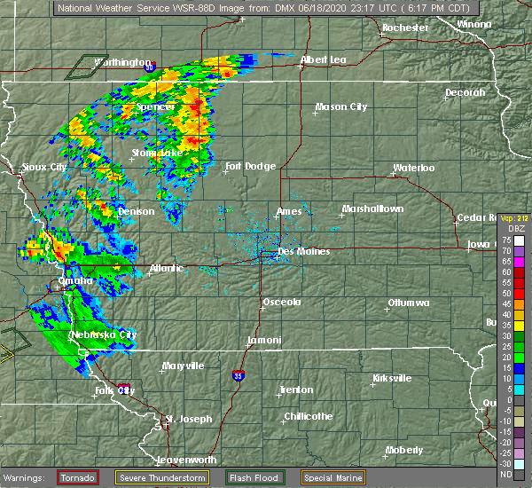Radar Image for Severe Thunderstorms near Rolfe, IA at 6/18/2020 6:22 PM CDT