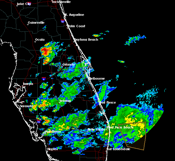 Radar Image for Severe Thunderstorms near Lady Lake, FL at 6/18/2020 7:26 PM EDT