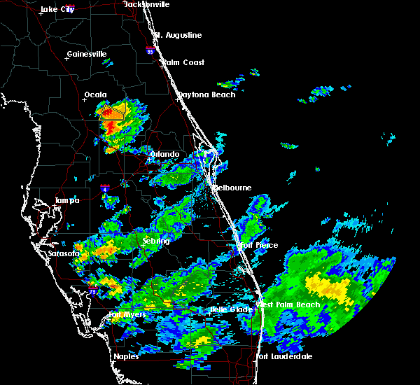 Radar Image for Severe Thunderstorms near Lady Lake, FL at 6/18/2020 7:41 PM EDT