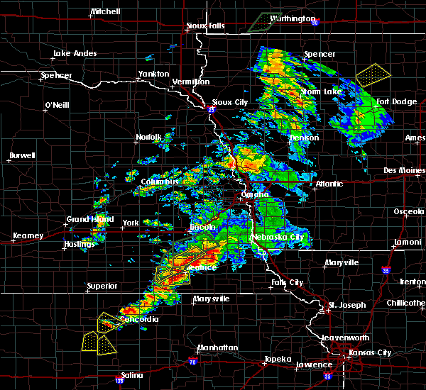 Radar Image for Severe Thunderstorms near Firth, NE at 6/18/2020 6:43 PM CDT