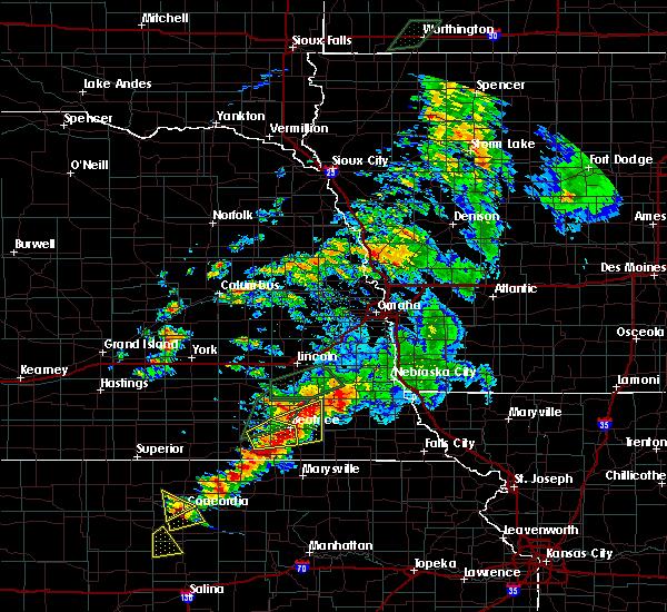 Radar Image for Severe Thunderstorms near Beatrice, NE at 6/18/2020 6:58 PM CDT