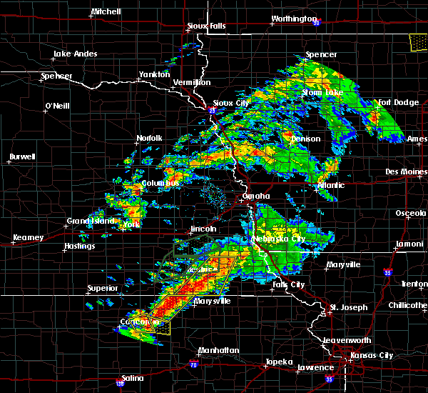 Radar Image for Severe Thunderstorms near Cook, NE at 6/18/2020 7:38 PM CDT