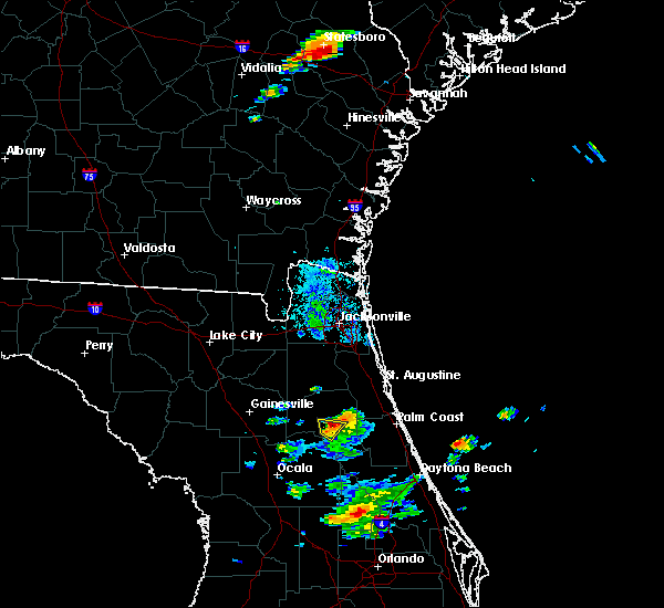 Radar Image for Severe Thunderstorms near East Palatka, FL at 6/18/2020 9:00 PM EDT