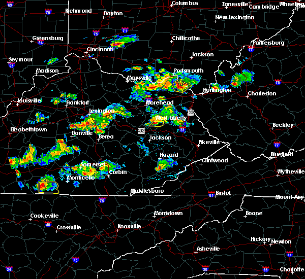 Radar Image for Severe Thunderstorms near Stanton, KY at 6/29/2015 5:49 PM EDT