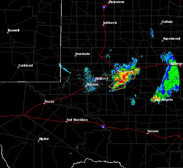 Radar Image for Severe Thunderstorms near Forsan, TX at 6/18/2020 9:48 PM CDT