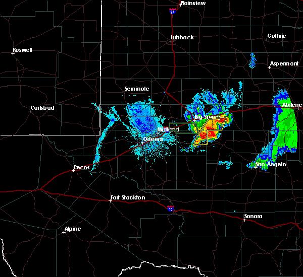 Radar Image for Severe Thunderstorms near Garden City, TX at 6/18/2020 10:07 PM CDT