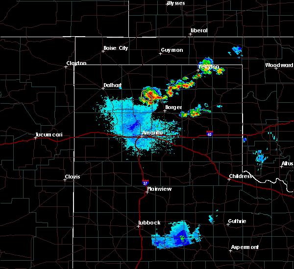 Radar Image for Severe Thunderstorms near Stinnett, TX at 6/19/2020 1:29 AM CDT
