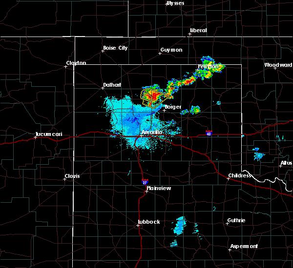 Radar Image for Severe Thunderstorms near Stinnett, TX at 6/19/2020 1:43 AM CDT