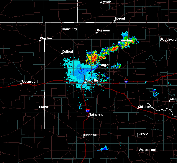 Radar Image for Severe Thunderstorms near Perryton, TX at 6/19/2020 1:55 AM CDT