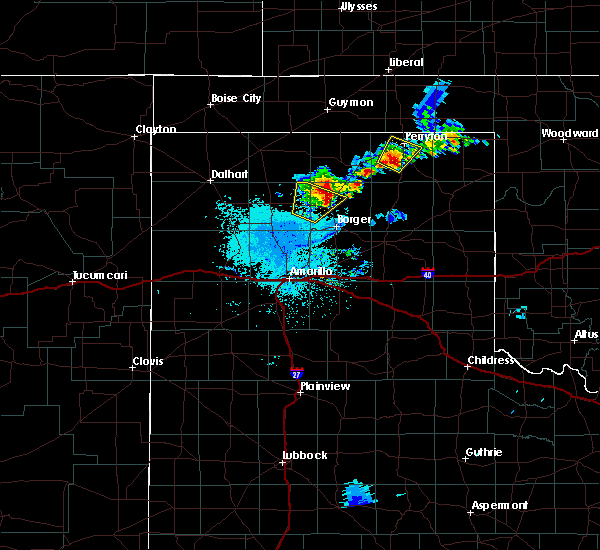 Radar Image for Severe Thunderstorms near Perryton, TX at 6/19/2020 2:09 AM CDT