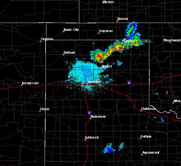 Radar Image for Severe Thunderstorms near Stinnett, TX at 6/19/2020 2:30 AM CDT