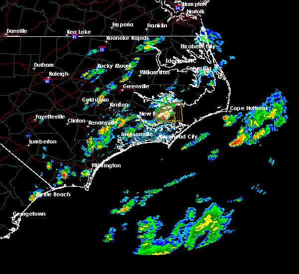 Radar Image for Severe Thunderstorms near Vandemere, NC at 6/19/2020 12:18 PM EDT