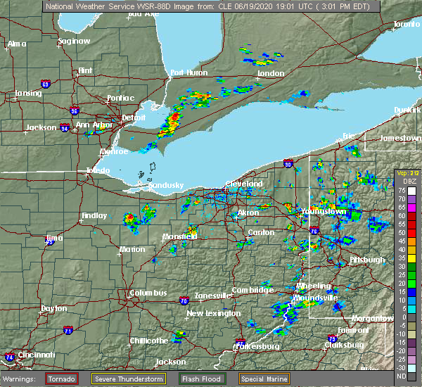 Radar Image for Severe Thunderstorms near Chatfield, OH at 6/19/2020 3:04 PM EDT