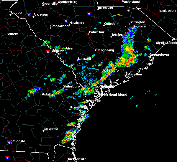 Radar Image for Severe Thunderstorms near Beaufort, SC at 6/19/2020 3:56 PM EDT