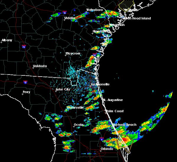Radar Image for Severe Thunderstorms near Woodbine, GA at 6/19/2020 4:03 PM EDT