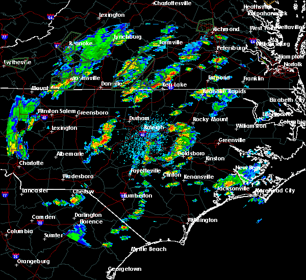 Radar Image for Severe Thunderstorms near Lake Royale, NC at 6/19/2020 4:06 PM EDT