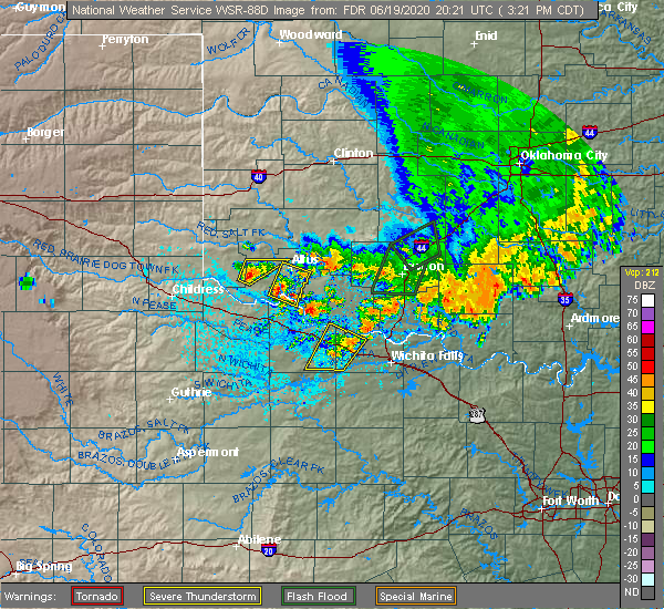 Radar Image for Severe Thunderstorms near Elmer, OK at 6/19/2020 3:24 PM CDT