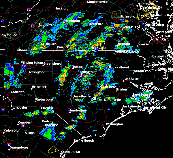 Radar Image for Severe Thunderstorms near Warrenton, NC at 6/19/2020 4:33 PM EDT
