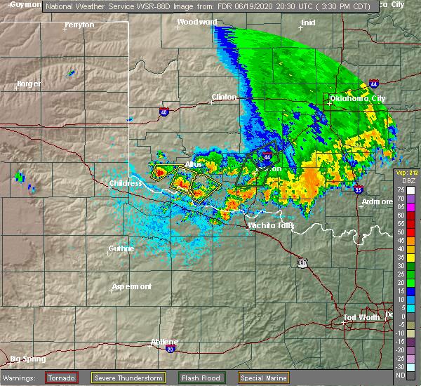 Radar Image for Severe Thunderstorms near East Duke, OK at 6/19/2020 3:37 PM CDT