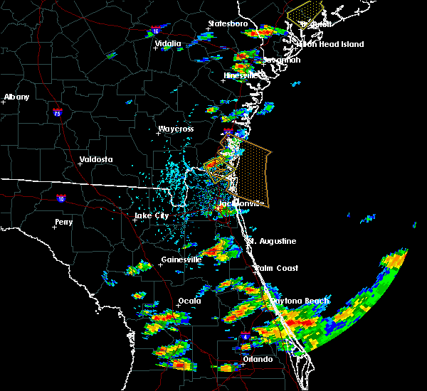 Radar Image for Severe Thunderstorms near Kingsland, GA at 6/19/2020 4:38 PM EDT