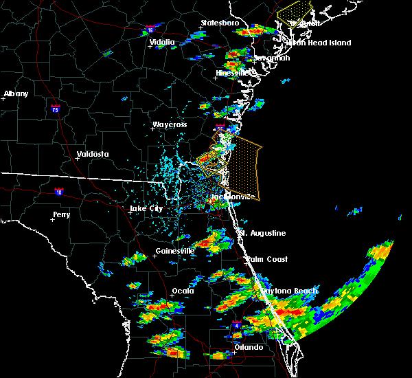 Radar Image for Severe Thunderstorms near Jacksonville, FL at 6/19/2020 4:45 PM EDT