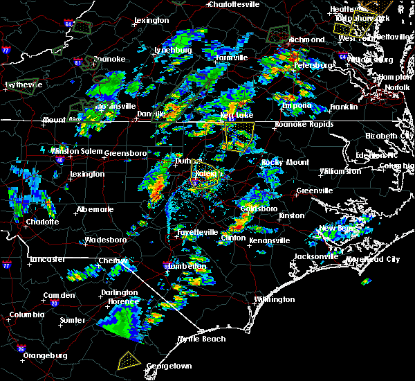Radar Image for Severe Thunderstorms near Warrenton, NC at 6/19/2020 4:49 PM EDT
