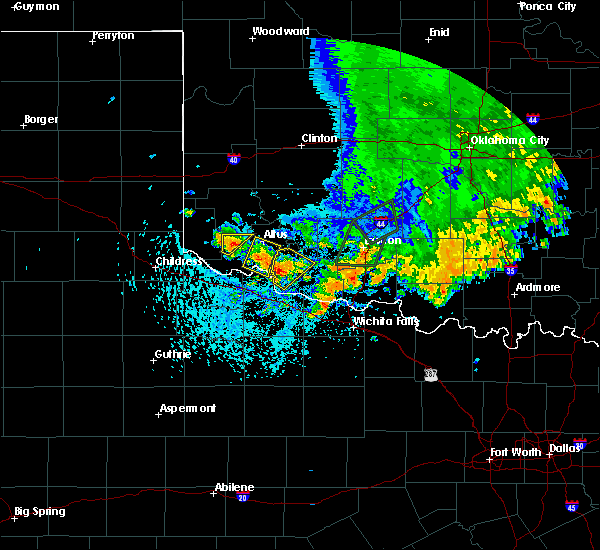 Radar Image for Severe Thunderstorms near Tipton, OK at 6/19/2020 3:54 PM CDT