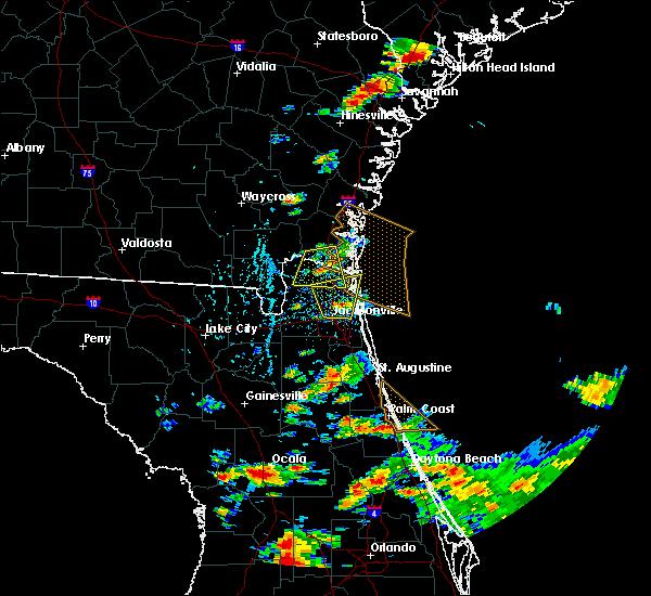 Radar Image for Severe Thunderstorms near Yulee, FL at 6/19/2020 5:06 PM EDT