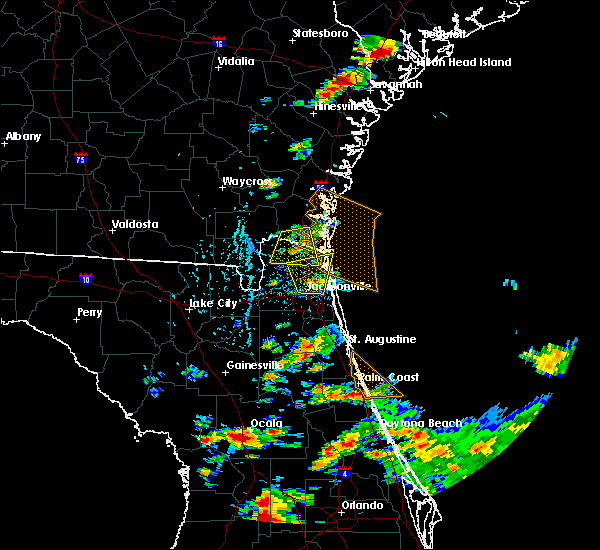 Radar Image for Severe Thunderstorms near Yulee, FL at 6/19/2020 5:07 PM EDT