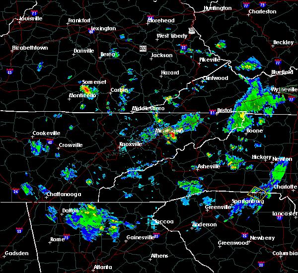 Radar Image for Severe Thunderstorms near Greeneville, TN at 6/19/2020 5:15 PM EDT