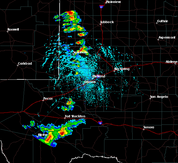 Radar Image for Severe Thunderstorms near Welch, TX at 6/19/2020 4:17 PM CDT
