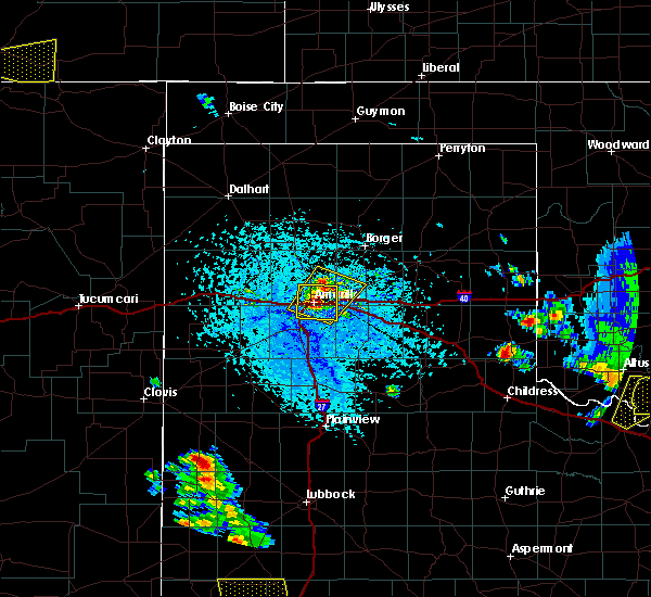 Radar Image for Severe Thunderstorms near Panhandle, TX at 6/19/2020 4:16 PM CDT