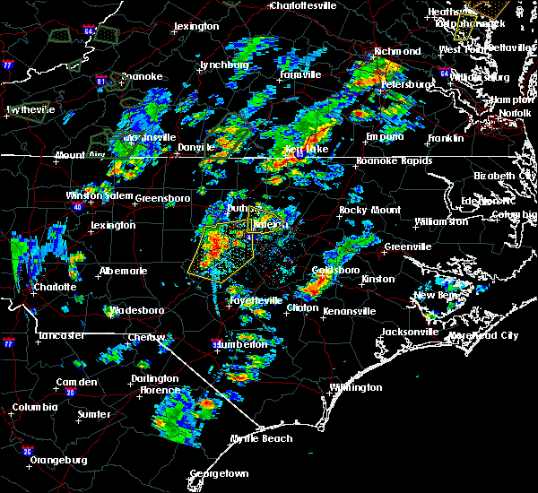 Radar Image for Severe Thunderstorms near Garner, NC at 6/19/2020 5:21 PM EDT
