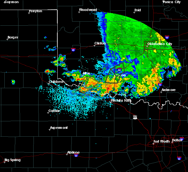 Radar Image for Severe Thunderstorms near Dodson, TX at 6/19/2020 4:20 PM CDT