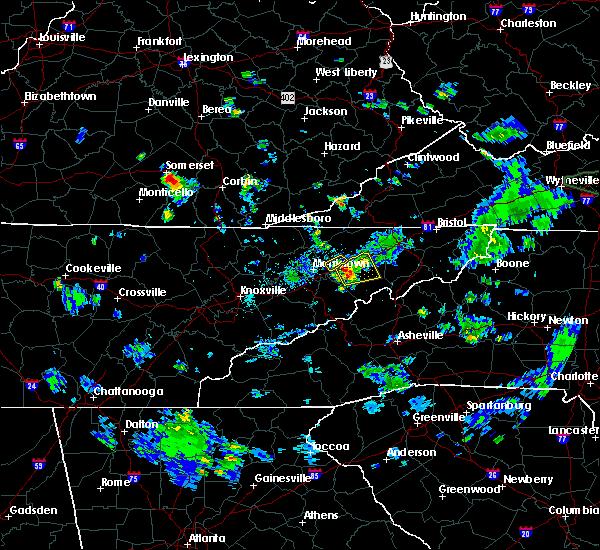 Radar Image for Severe Thunderstorms near Mosheim, TN at 6/19/2020 5:23 PM EDT