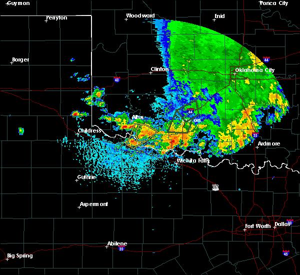 Radar Image for Severe Thunderstorms near Tipton, OK at 6/19/2020 4:24 PM CDT