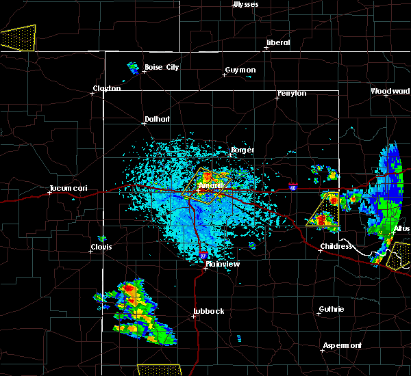 Radar Image for Severe Thunderstorms near Panhandle, TX at 6/19/2020 4:33 PM CDT