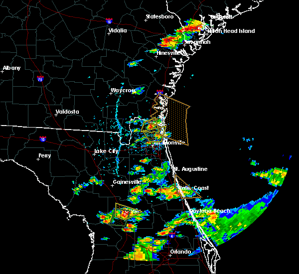 Radar Image for Severe Thunderstorms near Yulee, FL at 6/19/2020 5:34 PM EDT