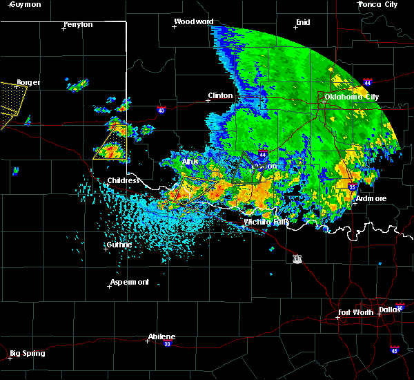 Radar Image for Severe Thunderstorms near Chattanooga, OK at 6/19/2020 4:43 PM CDT